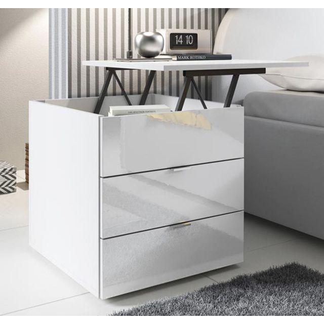 Design Ameublement Table de chevet Saler blanc