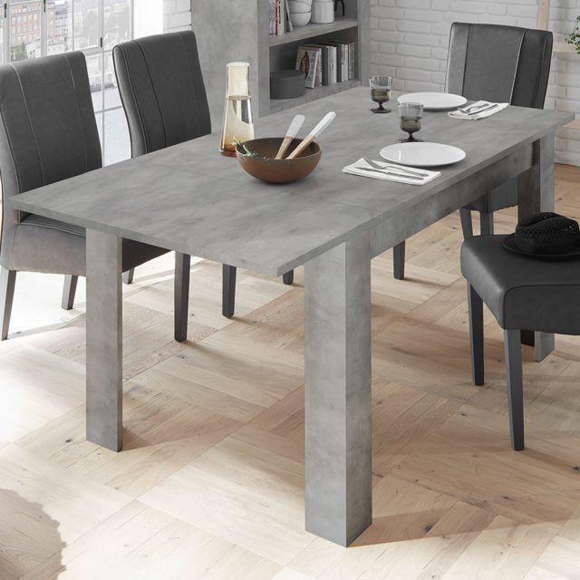 Kasalinea Table extensible 140 cm couleur gris béton design Mabel 2