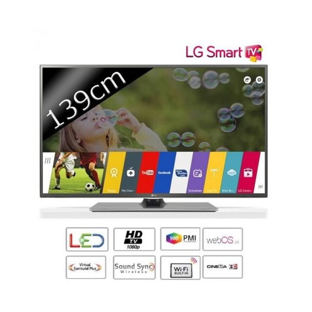 lg 55lf652v tv led 3d 55 39 39 139cm smart tv pas cher achat vente tv led de 50 39 39 55. Black Bedroom Furniture Sets. Home Design Ideas