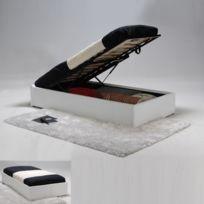 No Name - Lit coffre Torino 90x190 + 1 sommier / Blanc