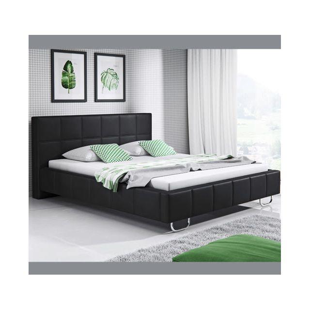 Design Ameublement Lit design Sofía – noir 160x190cm