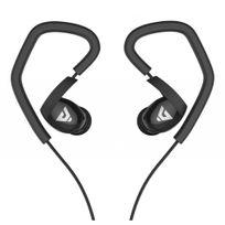 Alpexe - Sport Casque stéréo Écouteurs intra-auriculaires avec microphone et contrôle du volume écouteurs pour téléphone intelligent élégant téléphones portables écouteurs noir