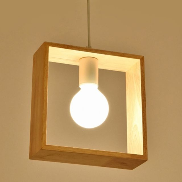 Superieur Wewoo   Lampe Suspendue Luminaire Salon Décoration De Maison Personnalité  Créatif Simple En Bois Massif Géométrique