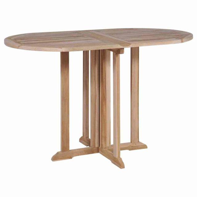 VIDAXL - Table de salle à manger pliante Teck massif 120x70x75 cm ...