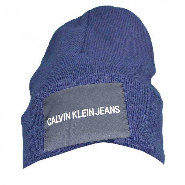 Bonnet Jeans bleu marine laine cachemire pour homme