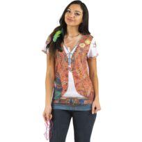 Boland - Déguisement Tee-Shirt Hippie - Femme
