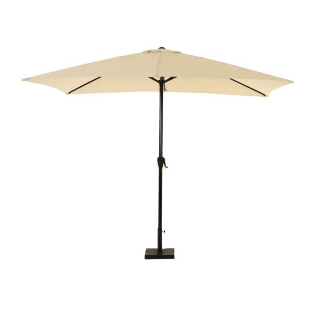 hesperide parasol rectangulaire aluminium fidji 2 x 3 m. Black Bedroom Furniture Sets. Home Design Ideas