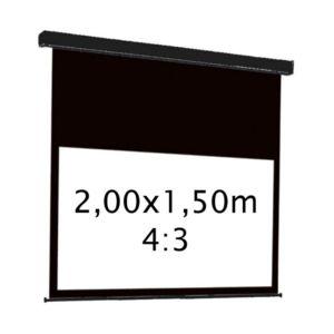 kimex ecran de projection lectrique 2 00 x 1 50m 4 3 carter noir pas cher achat vente. Black Bedroom Furniture Sets. Home Design Ideas