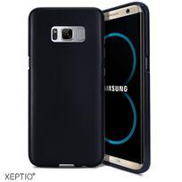 Xeptio - Etui noir pour Samsung Galaxy S8 Plus 4G 2017 Coque gel de Protection en Tpu