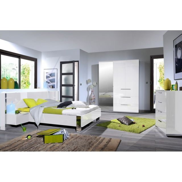 Tousmesmeubles Chambre Adulte Complete 140 190 Sunny N 4 Pas Cher Achat Vente Chambre Complete Rueducommerce