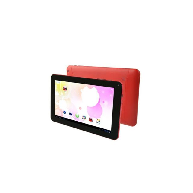 Auto-hightech tablette Pc 9.0 pouces, Android 4.0, 1Go+8Go, AllWinner A33 Quad Core jusqu'à 1.2GHz, WiFi rouge