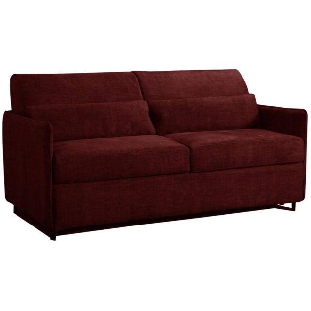 inside 75 canap convertible ouverture rapido jumbo bordeaux couchage 160 197 20cm m moire de. Black Bedroom Furniture Sets. Home Design Ideas