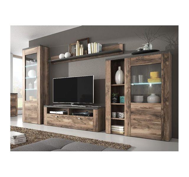 chloe design ensemble meuble tv design aleron bois et. Black Bedroom Furniture Sets. Home Design Ideas
