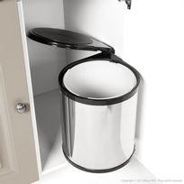 Les Essentiels By Dlm - Poubelle de cuisine de porte 14L en inox