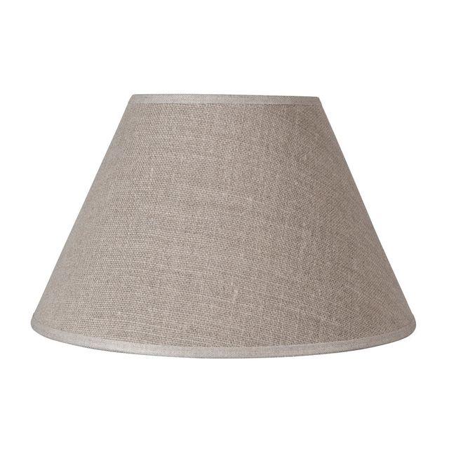 corep abat jour forme conique beige haute en lin linen pas cher achat vente abats jour. Black Bedroom Furniture Sets. Home Design Ideas