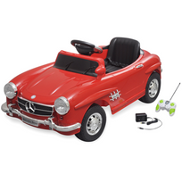 Rocambolesk - Superbe Voiture électrique 6 V avec télécommande Mercedes Benz 300SL rouge neuf