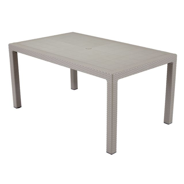 KETER - Table Melody Cappuccino - 6 couverts - pas cher Achat ...