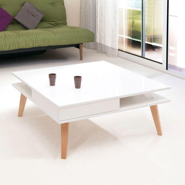 Longueur Table En Carrée Cm Basse 2 Bois Tiroirs Ornela 89 wOPiZuTkX