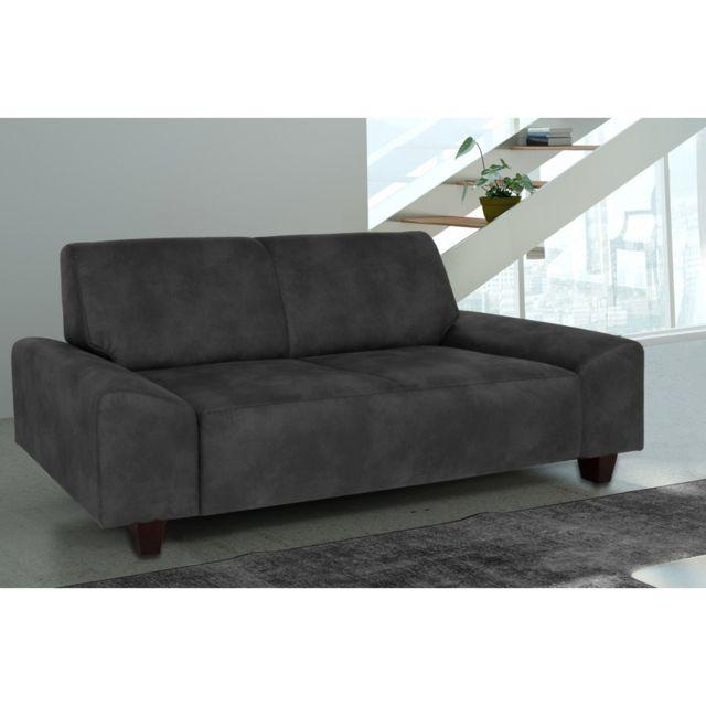 Rocambolesk Canapé Quick 3 Tobago 17 antracite+pieds venge sofa divan
