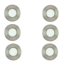 Lamedo Blanc Encastrables Spots Ø10cm 6 Led D'extérieur De Lot Chaud Nickel D9W2HIeEY