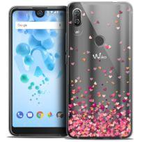 Caseink Coque pour Wiko View Prime Crystal Gel HD Collection Sweetie Design Heart Flakes - Souple - Ultra Fin - Imprim/é en France 5.7 Housse Etui