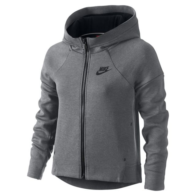 Nike - Sweat Tech Fleece Full-Zip Junior - Ref. 807563-091 Gris - pas cher  Achat   Vente Pull enfant - RueDuCommerce 501592a26acf