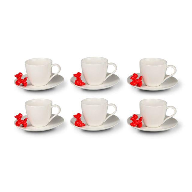 Avec À Porcelaine Blanc Café Chien En Silea Tasse Soucoupe 3qc4ARj5L