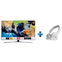Samsung - TV LED 55'' 139cm UE55MU6405 + Casque arceau supra aural Blanc Bluetooth JBL -E45BT-ARC-BT-BLANC
