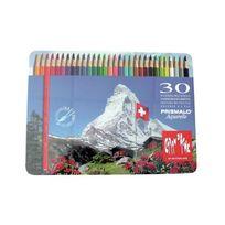 Caran d-Ache - Caran D'ACHE Prismalo Crayons De Couleur Aquarelle Assortiment De Couleurs Lot De 30