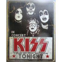 Plaque Kiss in concert tonight groupe hard rock 40cm tole deco fan musique 0aa3d4adfeb