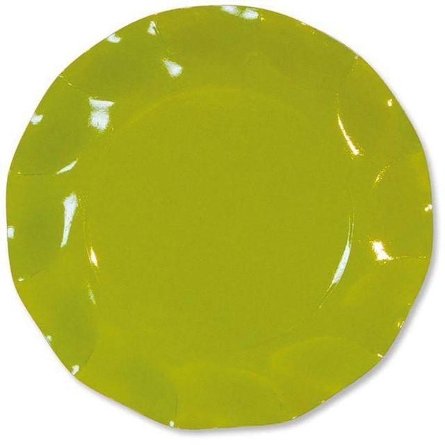 1001DECOTABLE 10 Assiettes carton D27cm Vert anis