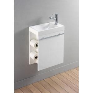 Planetebain ensemble meuble lave main complet avec for Meuble lave main toilette