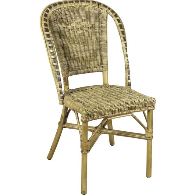 aubry gaspard - chaise en manau et moelle de rotin - pas cher achat
