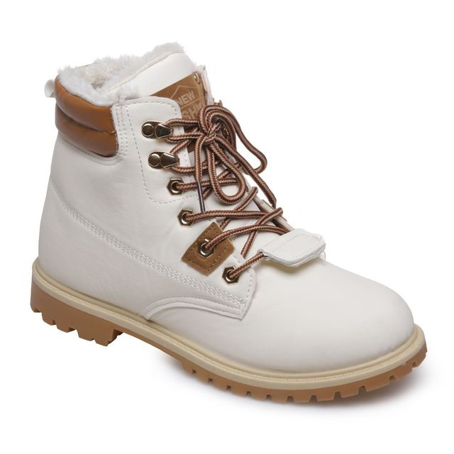 Cher Fourrées Bottines Lamodeuse Blanches Style Rangers Pas 0mvN8nw