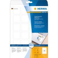 Herma - 10108 - tiquettes carrées - 40 x 40 mm/A4 - Amovible/sans traces - Papier blanc mat - Lot de 600 Import Allemagne