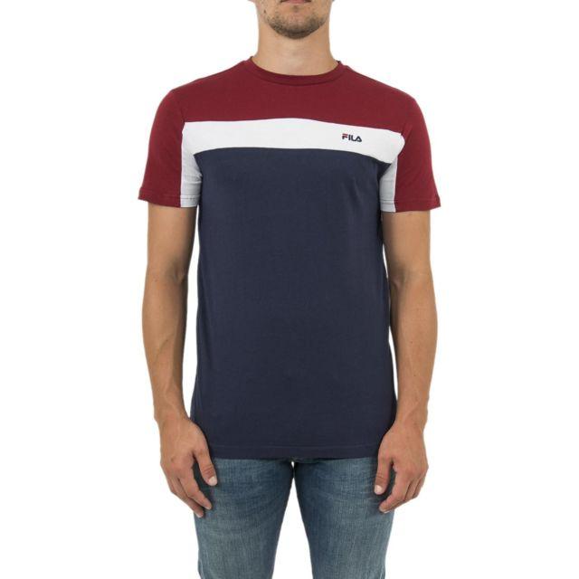 Fila Tee Shirt 682352 Nabil Bleu: .fr: Vêtements et