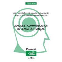 Eme Editions - Langue et communication en classe de français