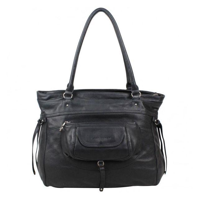 708b1274eb Lancaster - Sac  paule cuir Nova Soft Vintage Noir - pas cher Achat / Vente  Cabas, paniers - RueDuCommerce