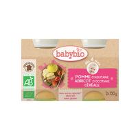 Babybio - Pots Pomme Abricot Céréale dés 4 mois