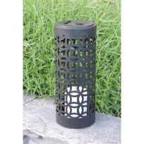 Mundus - Lanterne solaire Otto en métal et plastique Ø10 x H24 cm - Noir