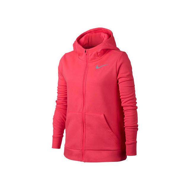 4cd1aec807 Nike - Sweat-shirt Therma Hoodie Fz rose gris enfant Multicolour - L ...