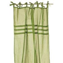 Home Stories - Voilage a nouettes trois plis 100% coton Chic 140x260 cm vert