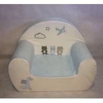 TEX BABY - Fauteuil bébé en velours milk