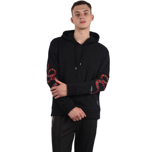Project X - Hoodie Snake   Rose homme Paris, Taille  S, Couleur  Noir - pas  cher Achat   Vente Sweat homme - RueDuCommerce 92f5721f9864