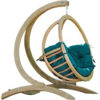 AMAZONAS - Balancelle Globo chaise coussin et support