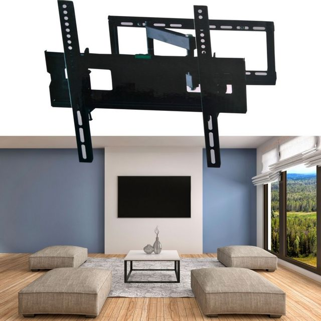 Idmarket Support Tv Mural Pivotant Et Inclinable Capacite 45 Kg