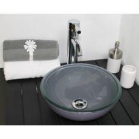 Evidence - Vasque ronde en verre gris Rany
