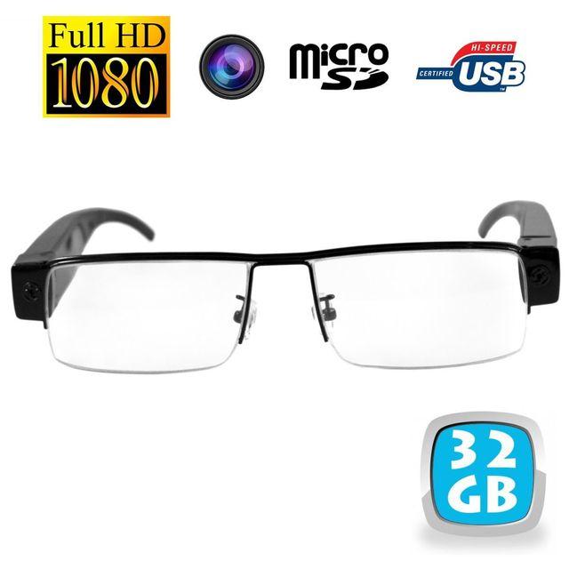 Yonis Lunettes de vue mini caméra espion Full Hd 1080p Micro Sd Usb 32 Go Ces lunettes caméra 32 Go compactes vous permettront de filmer ce que vous regardez en qualité Full Hd (1920x1080p).La caméra est invisible, directement intégrée dans la monture.L'e