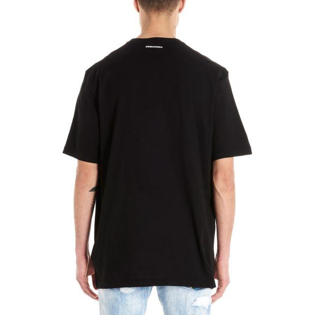 DSQUARED2 Homme S71GD0879S22427900 Noir Coton T-shirt