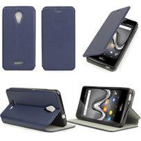 Objective Wiko Jerry Coque Souple Housse Etui Rabat Magnetique Fenetre Protection Cell Phone Accessories
